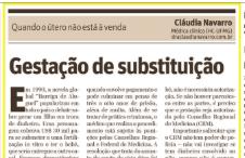 """Jornal O Tempo (Impresso) – Artigo sobre """"Gestação de Substituição"""""""