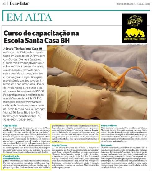 Jornal da Cidade BH (impresso) – Conscientização da Fertilidade