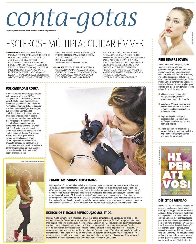 Jornal Estado de Minas (impresso e site) – Exercícios físicos e reprodução assistida