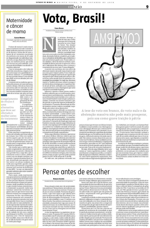 Jornal Estado de Minas (site e impresso) – Maternidade e Câncer de Mama