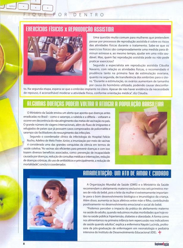 Revista SuplementAção – Exercícios físicos X reprodução assistida