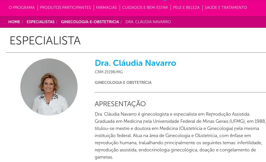 Cuidados Pela Vida – Dra. Cláudia Navarro