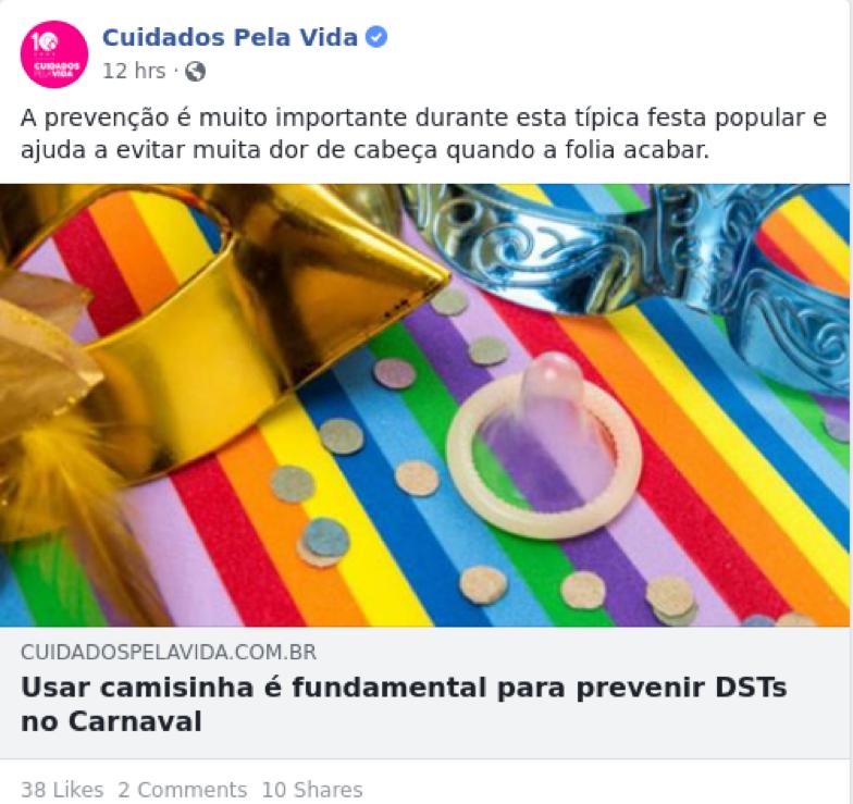 Portal Cuidados pela vida – Usar camisinha é fundamental para prevenir DSTs no Carnaval