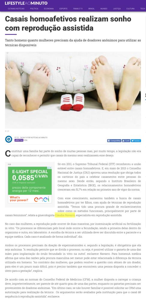 Portal Notícias ao Minuto Brasil – Casais homoafetivos realizam sonho com reprodução assistida